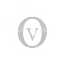 anello rosario con pietre rosse pavè bianco